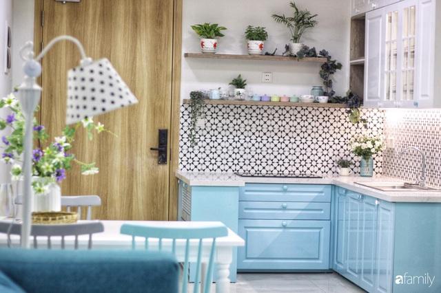 Căn hộ 71m² đẹp nhẹ nhàng, xinh yêu với màu xanh bạc hà có chi phí hoàn thiện 200 triệu đồng ở Sài Gòn - Ảnh 12.