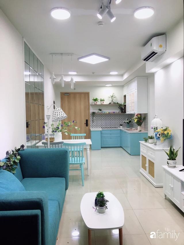 Căn hộ 71m² đẹp nhẹ nhàng, xinh yêu với màu xanh bạc hà có chi phí hoàn thiện 200 triệu đồng ở Sài Gòn - Ảnh 7.