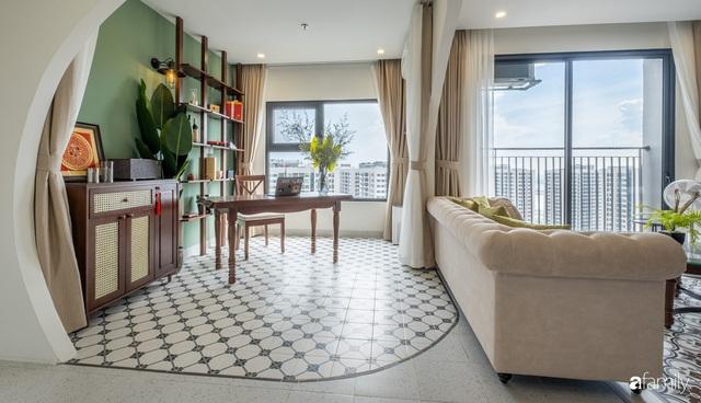 Căn hộ 74m² đẹp mê mẩn với từng góc nhỏ mang hơi thở Sài Gòn xưa ở thủ đô Hà Nội - Ảnh 3.