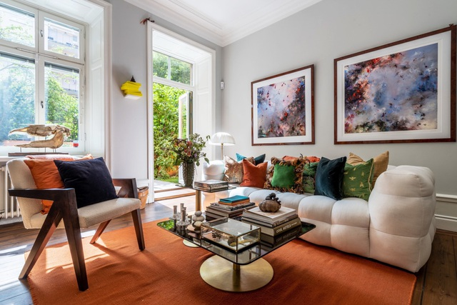 Căn hộ 54m² đẹp cuốn hút với sắc màu của mùa thu - Ảnh 2.