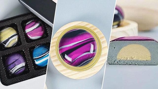 Độc lạ hộp bánh Trung thu tráng gương, mô phỏng dải ngân hà: 4 chiếc giá gần 2 triệu đồng - Ảnh 3.