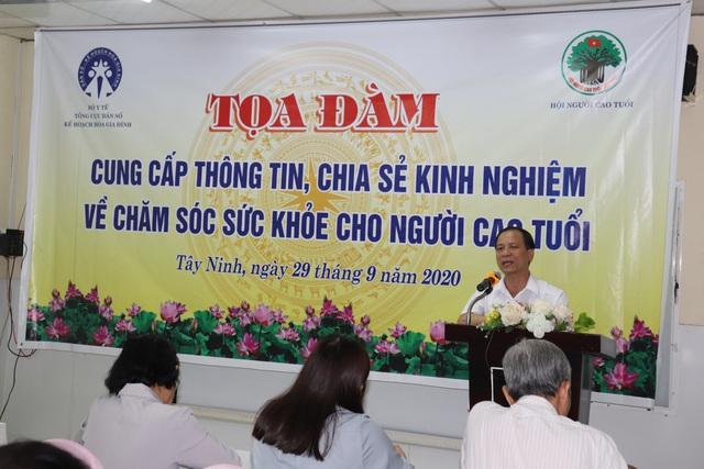 Tổng cục Dân số tổ chức tọa đàm chia sẻ kinh nghiệm chăm sóc người cao tuổi tại Tây Ninh - Ảnh 2.