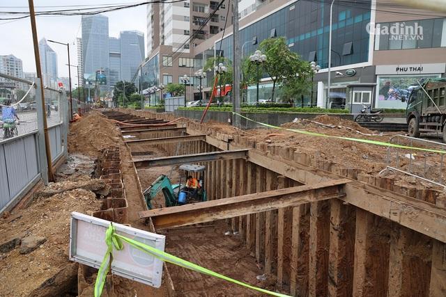 Toàn cảnh hầm chui gần 700 tỷ ở Hà Nội đang được tăng tốc thi công - Ảnh 5.