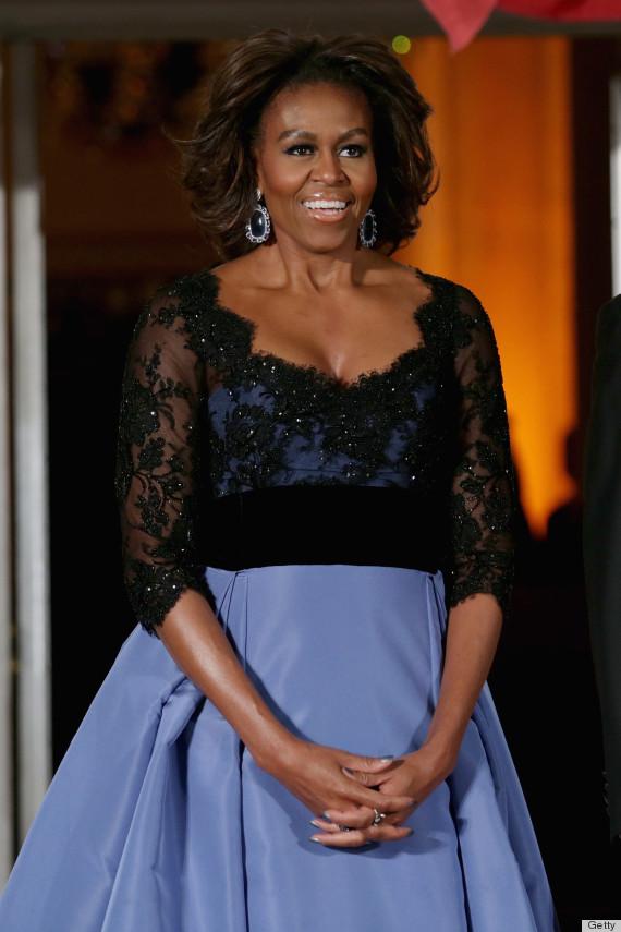 Lộng lẫy Michelle Obama tại quốc yến 2