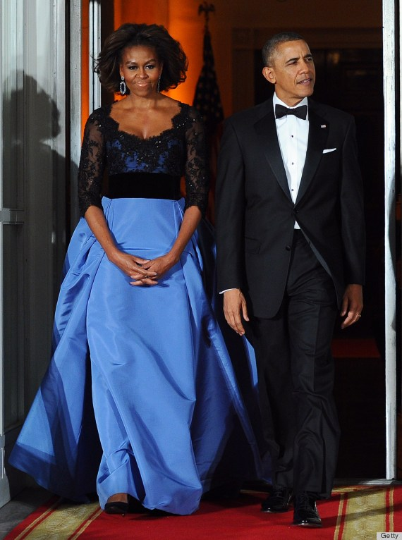 Lộng lẫy Michelle Obama tại quốc yến 3