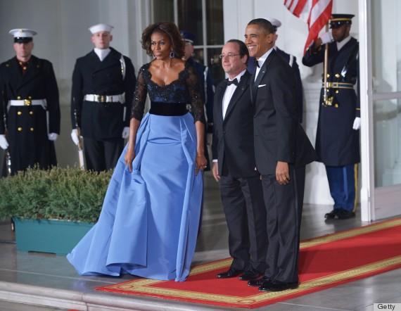 Lộng lẫy Michelle Obama tại quốc yến 1