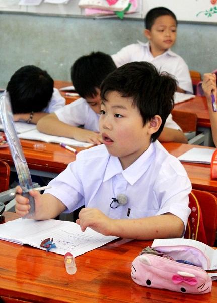 Tiểu PSY về Việt Nam học tiểu học? 5