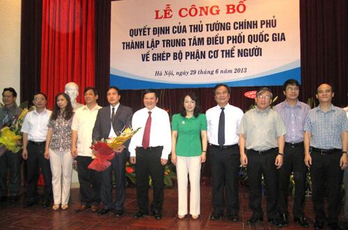 Thành lập Trung tâm Điều phối Quốc gia về ghép bộ phận cơ thể người 1