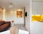 Cách kết hợp màu sắc ấn tượng của căn hộ 22m² đầy đủ tiện nghi