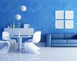 Ngôi nhà siêu mát khi sử dụng hai gam màu xanh - trắng để trang trí