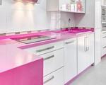 Nhà bếp màu hồng mang đến 'hương vị' mới lạ cho nơi nấu nướng của gia đình