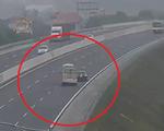 Xe ô tô đi lùi 6km trên cao tốc Hà Nội - Hải Phòng, suýt gây họa cho xe khách