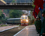 Đoàn tàu hỏa đặc biệt đã vào ga Đồng Đăng, chuẩn bị đưa Chủ tịch Triều Tiên Kim Jong-un về nước