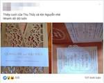 """Xôn xao thông tin Thu Thủy """"cưới chạy bầu"""" vì lộ thiệp cưới chỉ 3 ngày sau khi được tình trẻ cầu hôn?"""