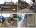 Hà Nội: Tiềm ẩn nguy cơ tai nạn do thi công ẩu tại đường Nguyễn Khoái