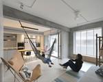 Căn hộ mang lại cảm giác vui vẻ nhờ loại bỏ các bức tường, tạo sự kết nối giữa các thành viên trong nhà