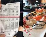 """Khách """"tố"""" ăn sushi 7 triệu, tiền trà 1 triệu, nhà hàng phản ứng bất ngờ"""