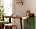"""Mẫu bàn ăn đơn giản """"đo ni đóng giày"""" cho ngôi nhà nhỏ"""