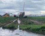 Máy bay Vietjet lao ra khỏi đường băng Tân Sơn Nhất