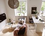 Căn hộ hình chữ L rộng vỏn vẹn 31m2 vẫn đủ không gian sống và thiết kế cực đẹp mắt