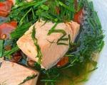 Canh cá hồi thì là bổ và mát của Tăng Thanh Hà