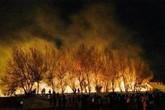 Nam sinh viên tỏ tình bằng pháo hoa, gây cháy lớn