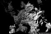 Cận cảnh robot thăm dò Philaelần đầu tiên đáp xuống bề mặt sao chổi