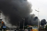 Cháy chợ Nhật Tân