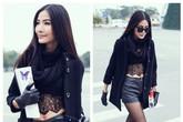 5 người đẹp Việt sexy với street style mùa lạnh