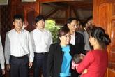Bộ trưởng Nguyễn Thị Kim Tiến thăm và tặng quà ở Mường Nhé, Điện Biên