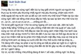 Tự thú sát hại vợ và có ý định tự sát trên facebook?