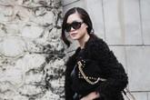 Hoa hậu Thùy Dung diện quần rộng, tạo dáng giữa trời đông