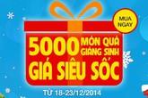 5.000 món quà giáng sinh giá siêu sốc từ muachung.vn
