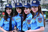4 nữ bảo vệ xinh như hot girl gây xôn xao