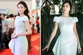 Sao Việt liên tục 'đụng hàng' váy pastel họa tiết