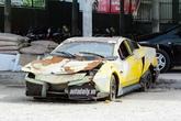 """""""Siêu xe"""" Lamborghini tự chế của thợ Việt thành đống sắt vụn"""