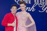 Hồng Quế váy dài xuyên thấu khiến quán quân Vietnam Idol Trọng Hiếu phải nhón chân khi đứng cạnh
