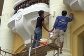 Bị chê sặc sỡ, Nhà hát lớn Hà Nội sơn lại màu cũ