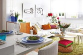 Căn hộ 40m² ngập sắc xuân nhờ nội thất hiện đại