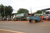Xe ba gác mất lái tông xe bồn, 1 người chết