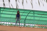 Thiếu nữ liên tục la hét ở rìa cầu rồi bất ngờ nhảy xuống
