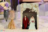 Không gian tiệc cưới lần hai màu trắng tím lãng mạn của Tự Long