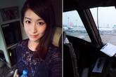 Hotgirl xinh đẹp được phi công mời vào buồng lái
