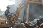 Cháy lớn, cả kho phế liệu bị thiêu rụi trong 1 giờ
