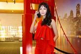 Hoa hậu Thùy Dung rực rỡ với 'cây đỏ' đi sự kiện