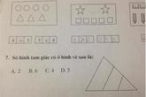 Bài toán lớp 1 tìm tam giác khiến các ông bố đau đầu