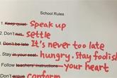Những quy định trái ngược ở trường học và trường đời