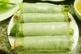 Thưởng thức bánh tráng cuốn thịt heo kiểu Hà Nội