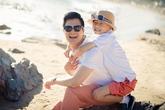 Quang Dũng hạnh phúc bên con trai Bảo Nam