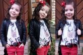 Công chúa nhỏ mặc sành như thiếu nữ